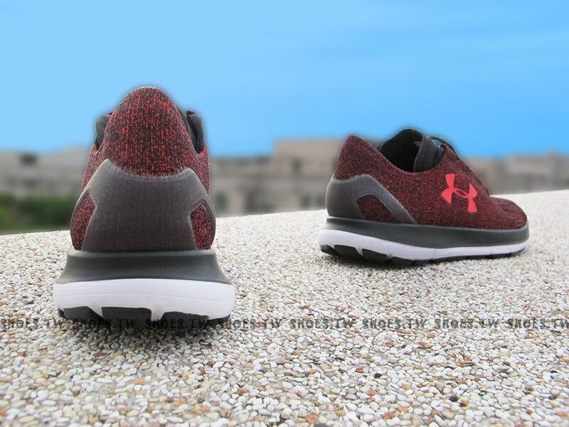 《26.5cm零碼出清》Shoestw【1281998-706】UNDER ARMOUR 慢跑鞋 Speedform Slingride 紅黑 編織 男生 2