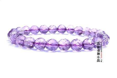 紫水晶刻面手鏈 紫水晶手鏈 7mm小巧秀氣