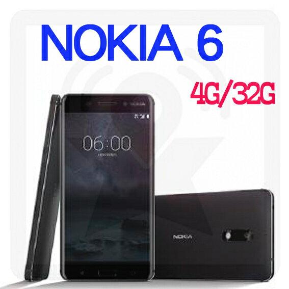 【星欣】NOKIA 6 4G/32G 5.5吋 1600萬畫素 前後 F2.0 光圈 金屬機身搭配 2.5D 玻璃 (贈保護貼) 直購價