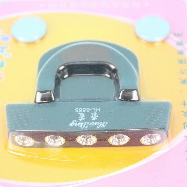 帽沿燈 豪菱HL-6568 5燈LED帽沿燈(內附電池) / 一袋10個入 { 促99 } ~智4711137014957 3