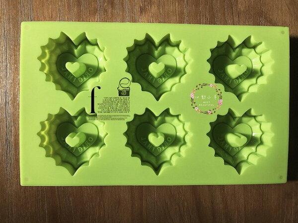 心動小羊手作坊:心動小羊^^DIY矽膠模具肥皂香皂模型矽膠皂模藝術皂模具香磚擴香石6孔花邊愛心曲奇模