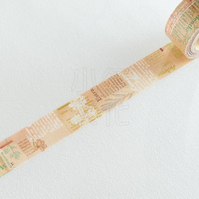 *小徑文化* | 台灣原創紙膠帶 | 小徑 x 夏米花園 5th . 夏日練習曲系列 - 花筆記 ( MTW-CH060 )