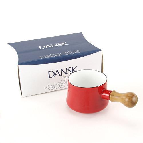 【菲比朵朵】日本代購 DANSK迷你?瑯牛奶鍋/巧克力鍋