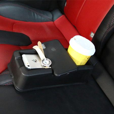 汽車椅縫多功能置物架多功能車用飲料架收納盒置杯架手機架收納【N600044】