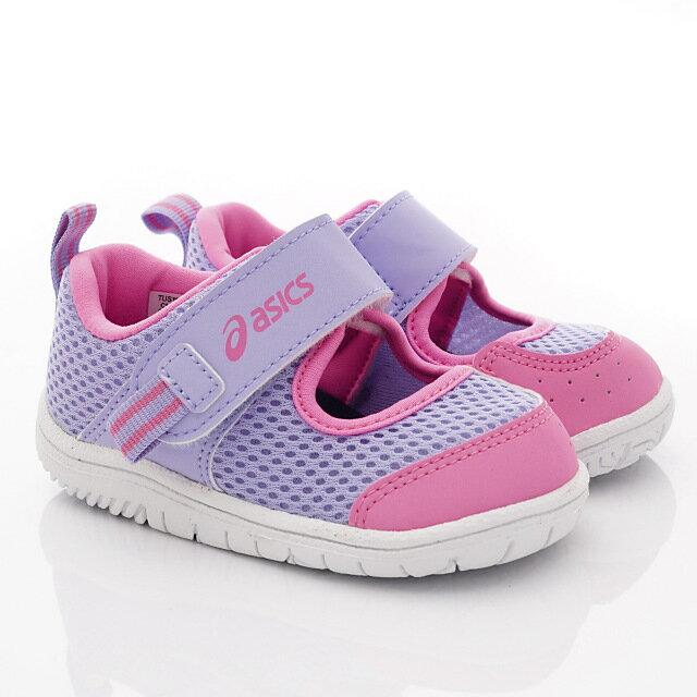 日本亞瑟士ASICS機能童鞋休閒學步鞋TUS118-513粉紫(中小童) 618購物節