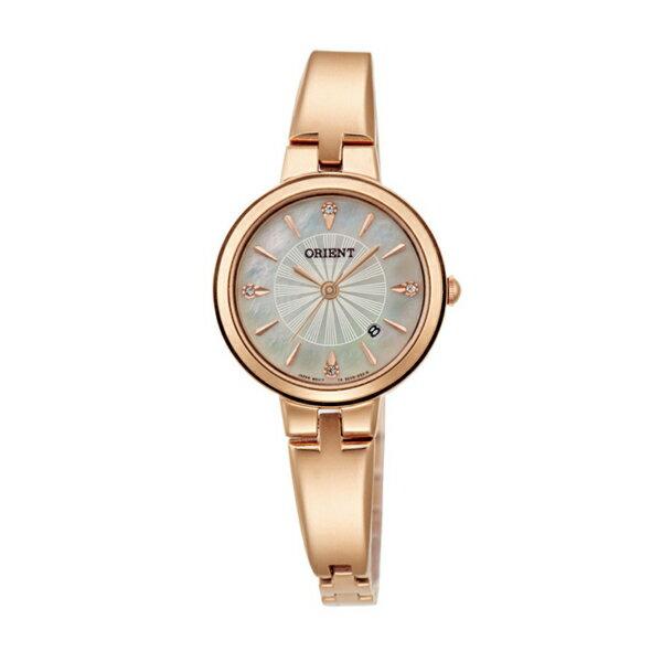 Orient 東方錶(FSZ40001W)玫瑰金優雅女仕時尚腕錶/白貝殼面26mm