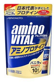 ~橘町五丁目~amino VITAL 胺基酸乳清蛋白 香草口味~4.3g ^~ 10包入~