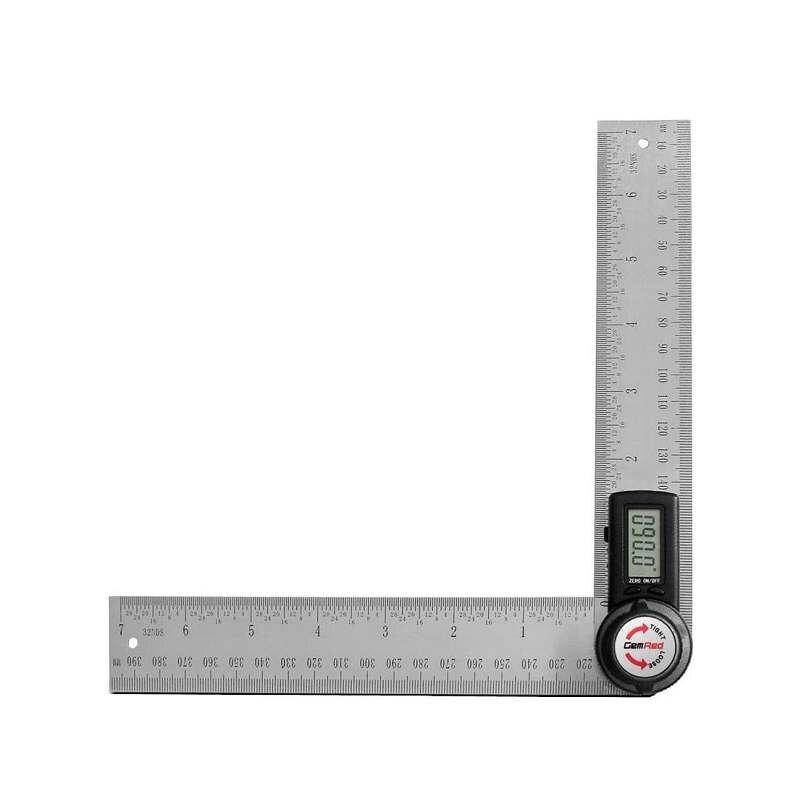 GemRed 電子式量角器 Digital Angle Finder Protractor Stainless steel 7inch/200mm [9美國直購]