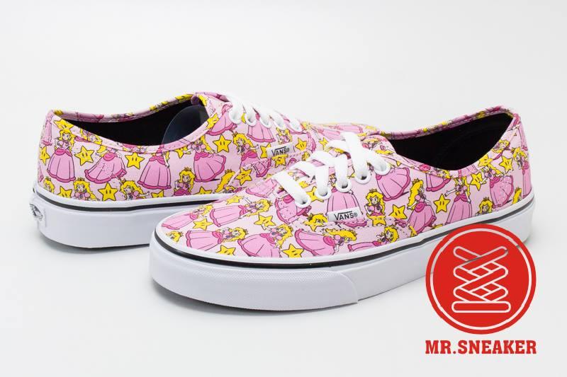 ☆Mr.Sneaker☆ VANS X Nintendo Authentic Princess Peach 等待拯救的公主 聯名 限量 粉紅 女款