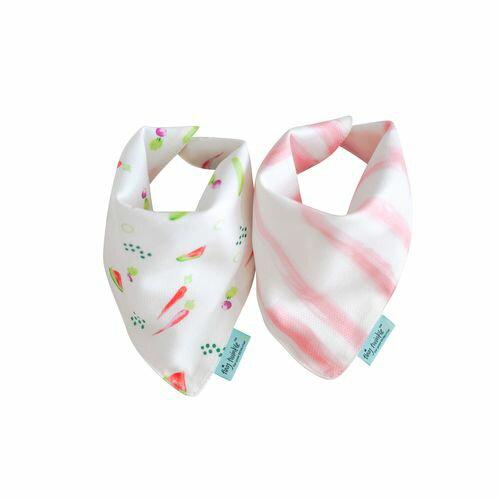 TinyTwinkleDroolBibs口水巾2入組(水果粉條)TT-1106★衛立兒生活館★