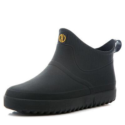 雨鞋男 雨鞋男加絨短筒厚底防滑防水鞋時尚低幫雨靴套鞋廚房釣魚工作膠鞋『SS1915』