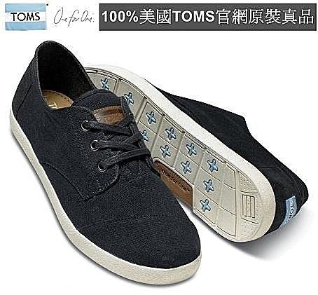 【Cadiz】美國真品正品 TOMS 黑色帆布休閒男鞋 [Black Canvas Men\