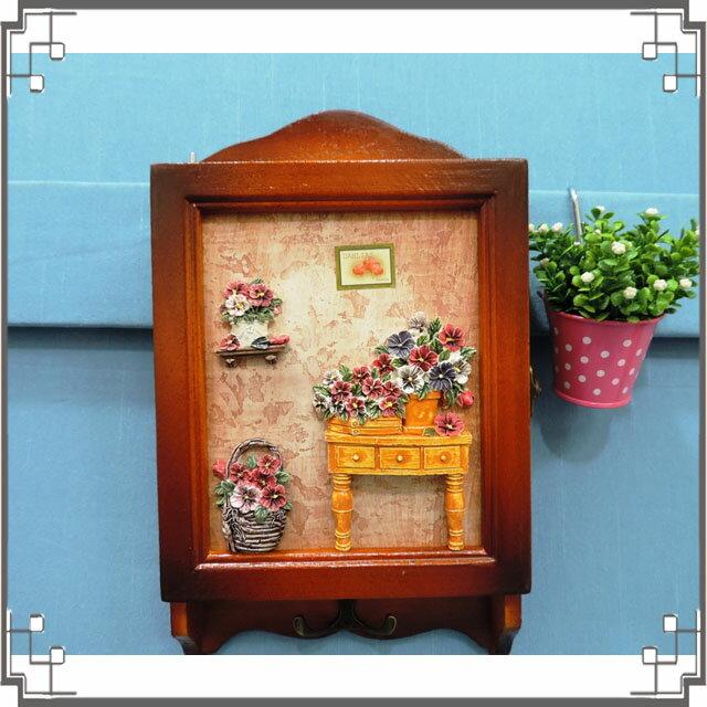 木製田園KEY BOX《WK2-1》鄉村鑰匙盒 木製鑰匙盒 壁櫃 收納櫃 壁飾◤彩虹森林◥