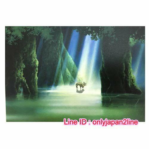 【真愛日本】16101100066三鷹美術館限定明信片-魔法公主山獸神森林   宮崎駿 美術館限定 明信片 日本帶回