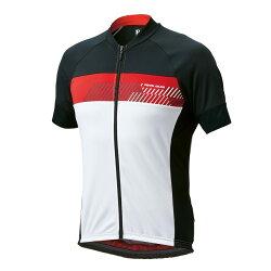 【7號公園自行車】PEARL IZUMI 603-B-7 基本款男性短袖抗菌防臭公路車衣(白黑紅)