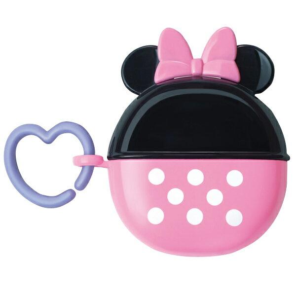 ★衛立兒生活館★日本 迪士尼 Disney 米妮圓形零食收納盒