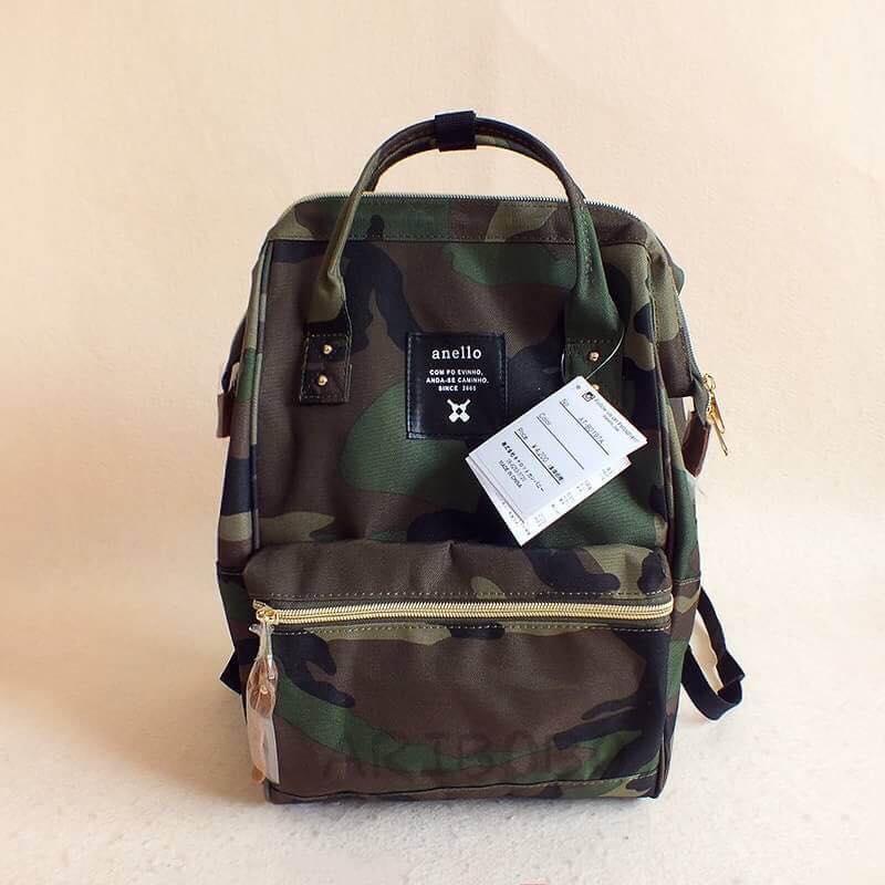【日本anello】ANELLO 雙肩後背包 《大號》- 綠迷彩