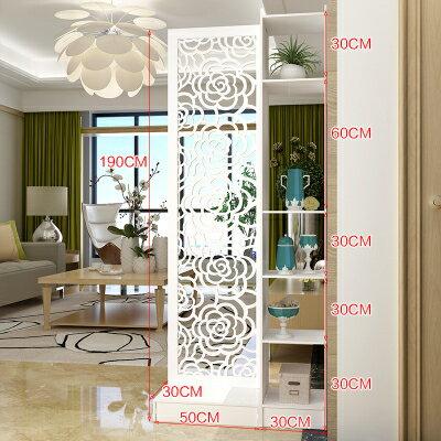 屏風 歐式玄關櫃進門隔斷櫃現代簡約入戶門廳酒櫃客廳屏風多功能裝飾櫃