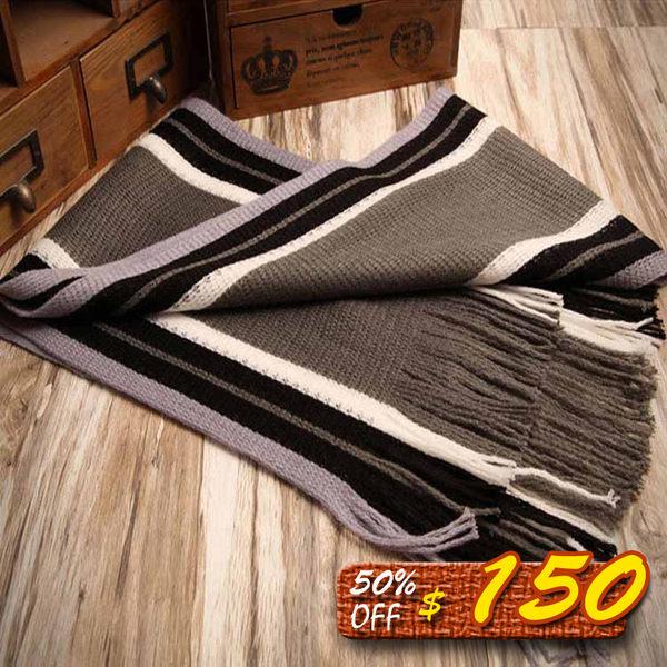 Mao 日韓新品情侶款毛線保暖情侶圍巾