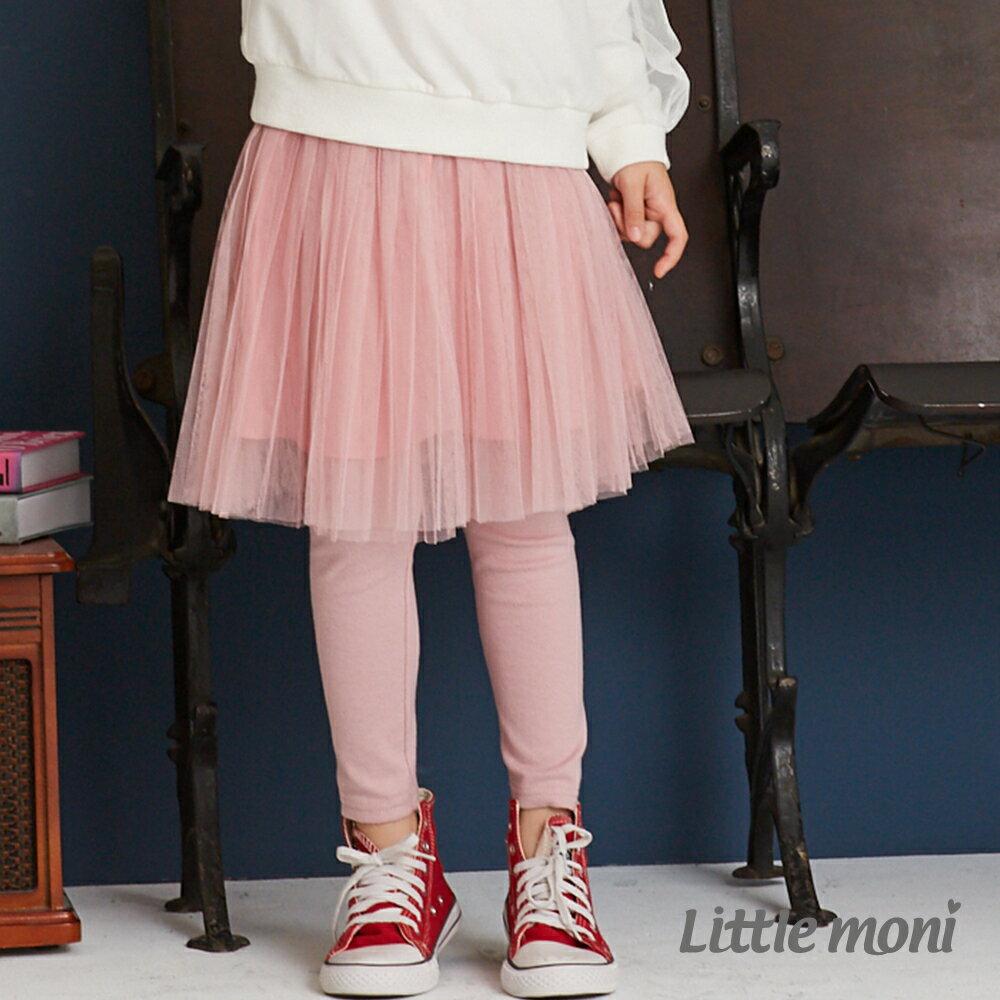 Little moni 假兩件網紗蓬裙褲-粉紅(好窩生活節) 1