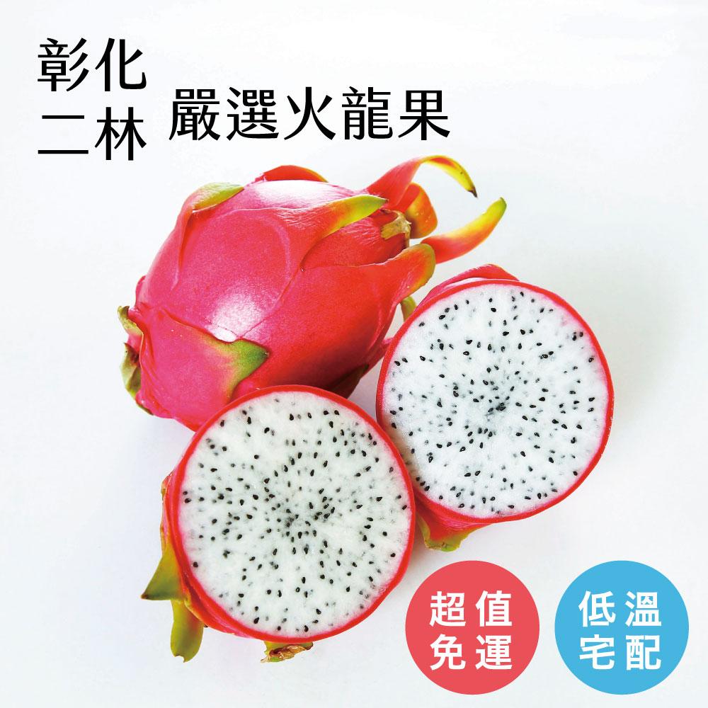 【好實選果】頂級白肉火龍果 350g ×6入〔免運〕