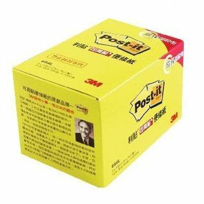"""【3M】654L黃可再貼環保經濟包3×3""""12本盒"""
