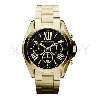 MK5739 MICHAEL KORS 計時黑色裱盤金色錶帶男錶