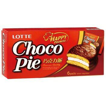 【LOTTE 樂天巧克力派28g*6入/盒】 韓國零食 美食【T10072】