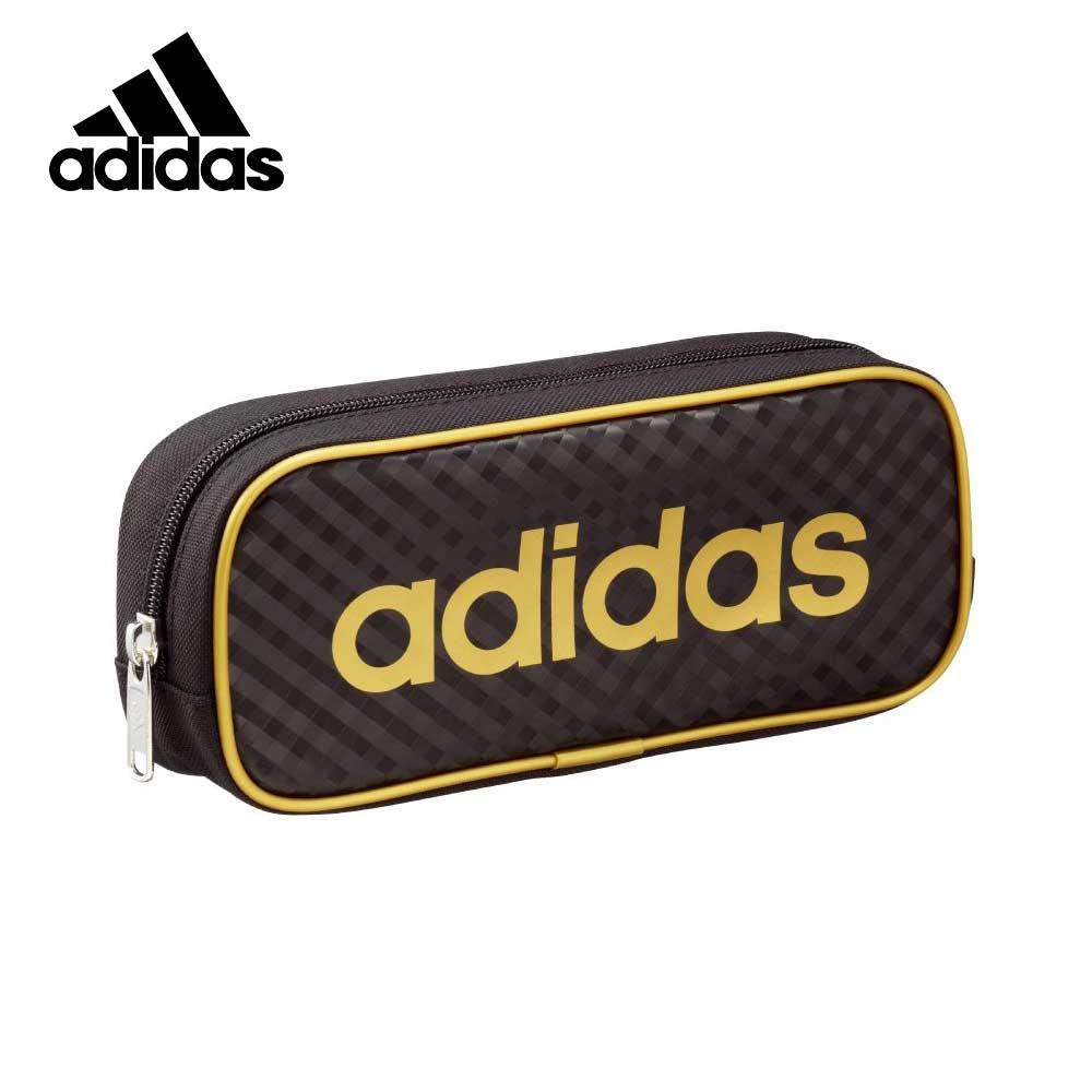 金色款【日本正版】愛迪達 菱格紋造型 筆袋 鉛筆盒 Adidas x Uni - 210635