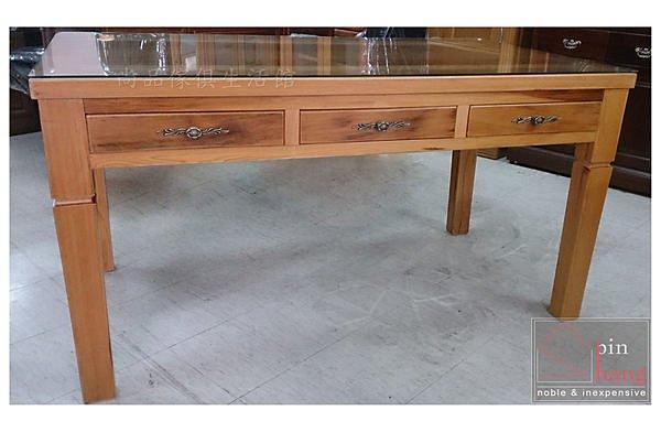 【尚品傢俱】813-04福爾摩莎 4.8尺台灣檜木書桌/全實木辦公桌/電腦桌/事務桌