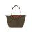[長柄M號]國外Outlet代購正品 法國巴黎 Longchamp [1899-M號] 長柄 購物袋防水尼龍手提肩背水餃包 枯葉草 0