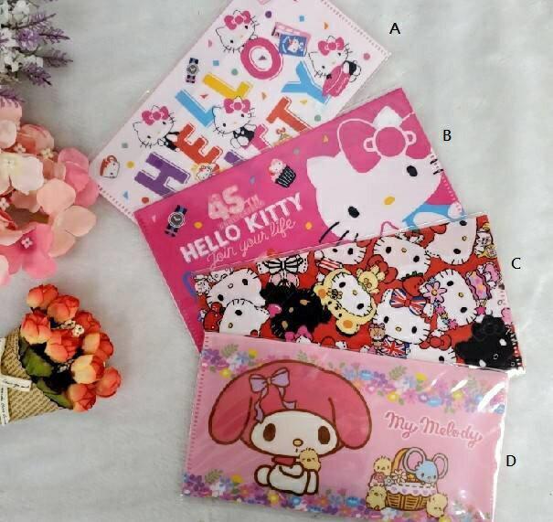 大賀屋 台灣製 Hello Kitty 美樂蒂 口罩夾 口罩 收納袋 資料夾 文件夾 資料袋 KT T00120740