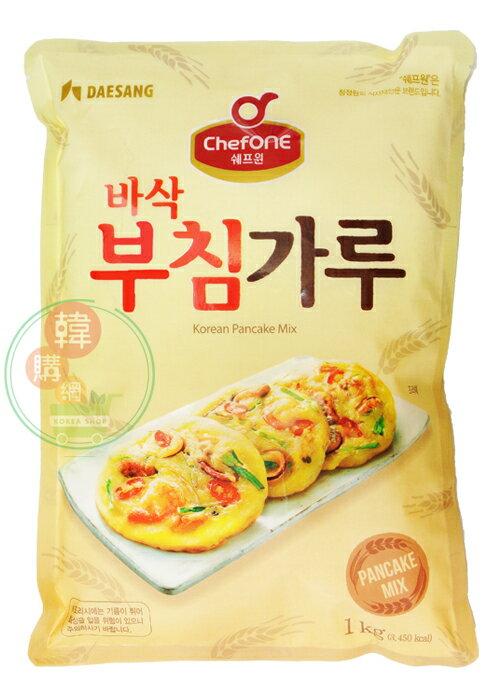 【韓購網】韓國大象煎餅粉1kg★不想吃飯的另選擇★買回家輕鬆做出美味的韓式煎餅喔