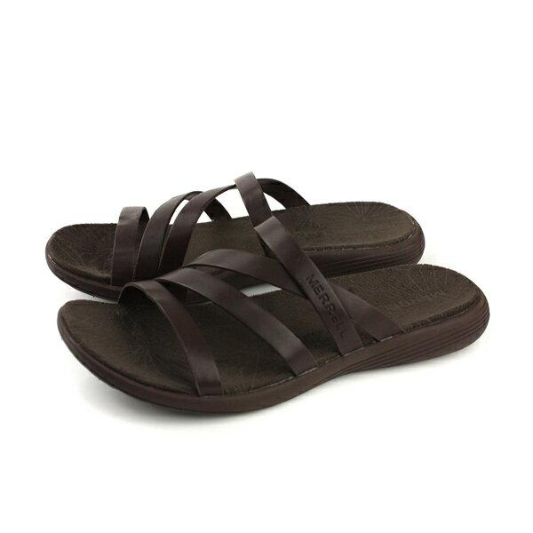 MERRELLDUSKAIRSEAWAYSLIDELTR涼鞋拖鞋式真皮深咖啡女鞋ML94250no905