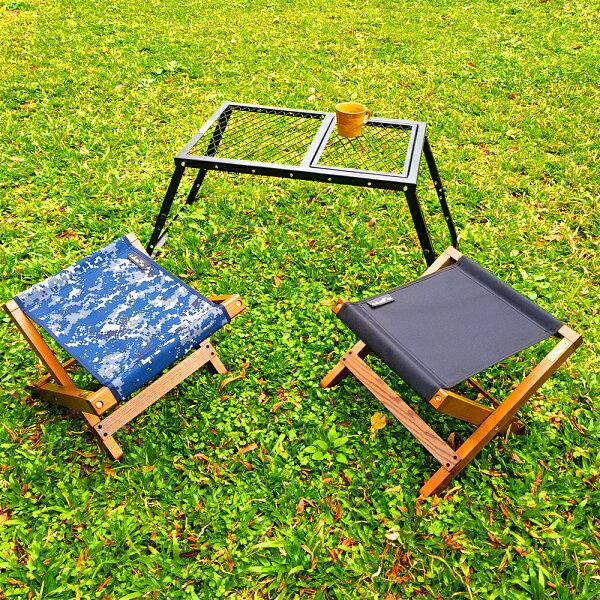 戶外露營露33多彩白蠟木折疊椅CA7802木製椅收納椅cAmP33休閒登山