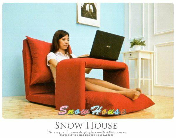 ╭☆雪之屋居家生活館☆╯AA493-10 筆電和室桌椅組/ 沙發床/沙發椅/躺椅/單人沙發