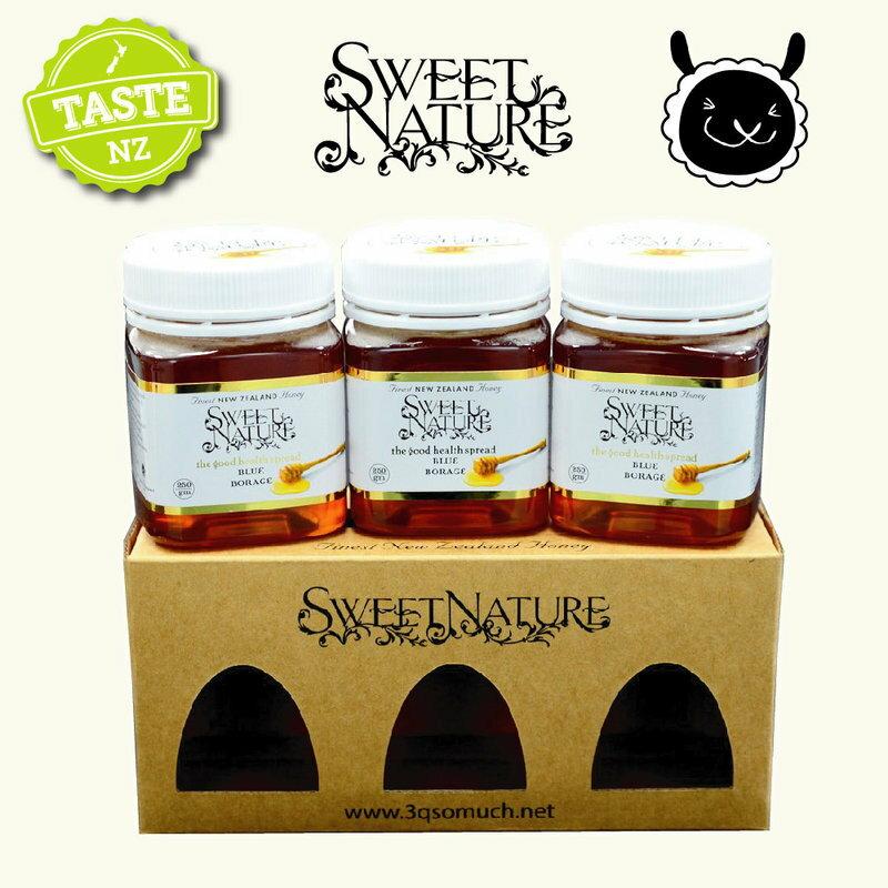 【壽滿趣】Sweet Nature -  紐西蘭進口藍色琉璃苣蜂蜜禮盒(250gmx3 瓶) 0