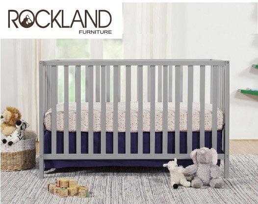 【送床包】【Rockland】喬依思4合1嬰兒床(附贈床墊+床側護欄)-4色 3