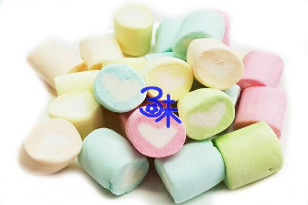 (菲律賓) 蜜意坊 造型棉花糖 (TO-19 五彩心心卷棉花糖3cm) 1包1公斤 特價168元 (雪Q餅、雪花餅原料)