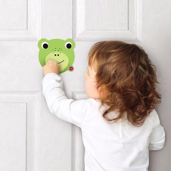 新加坡ORIBEL 創意壁貼玩具_青蛙叩叩門好窩生活節 1