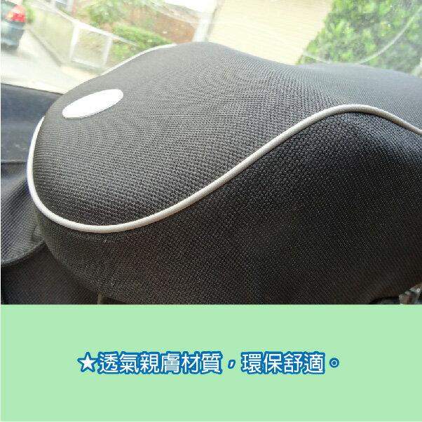 e系列汽車用品【運動透氣布記憶棉頭枕】車用護頸 腰靠 超纖皮 米卡頭枕 舒緩疲勞