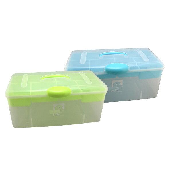 JUSKU佳斯捷3480大英雄收納箱置物箱手提整理盒零件盒收納箱儲物盒工具箱小物盒台灣製造手提收納箱文具箱