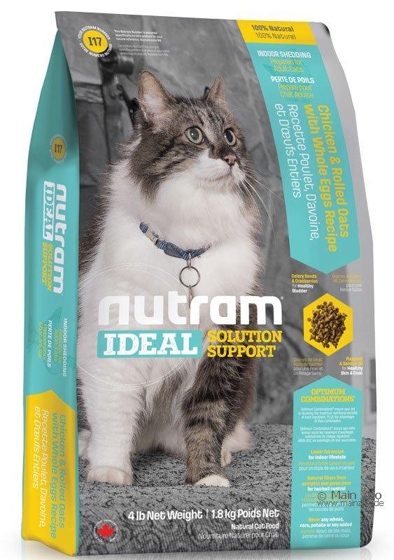 ❤Double妹寵物❤紐頓Nutram室內化毛貓 雞肉 燕麥I17~1kg~~1.8kg~