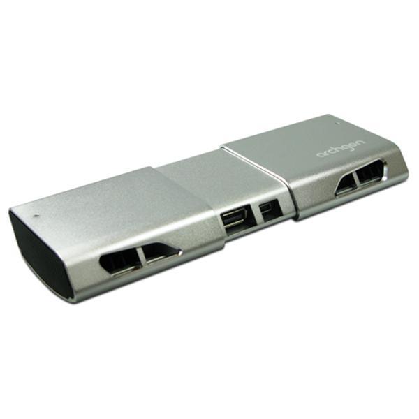 [archgon]伸縮型筆電散熱棒 LC-2201HUB (黑/銀 兩色)