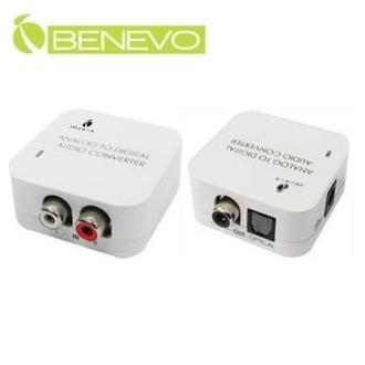 BENEVO 類比立體聲 轉 數位同軸與光纖轉換器 ( BDAC04 )