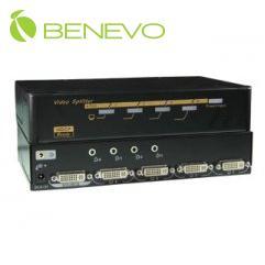 BENEVO 4埠DVI 影音訊號分配器 ( BDAS104 )