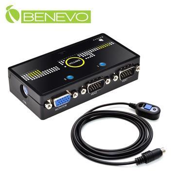 <br/><br/>  BENEVO 2埠磁吸型高頻VGA切換器含切換鈕 ( BVS201A )<br/><br/>
