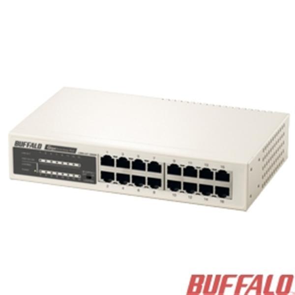 Buffalo LSW4-GT-16NSR-TW 16埠鐵殼GIGA交換器