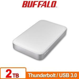 Buffalo PAU3 Thunderbolt 2TB(白) 2.5吋防震鏡面行動硬碟
