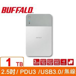 Buffalo PD1.0U3 1TB 2.5吋無線Wi-Fi行動硬碟